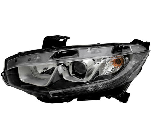 Headlight Assembly NEW Left Driver Side For 16-18 Honda Civic EX//EX-L//EX-T//LX