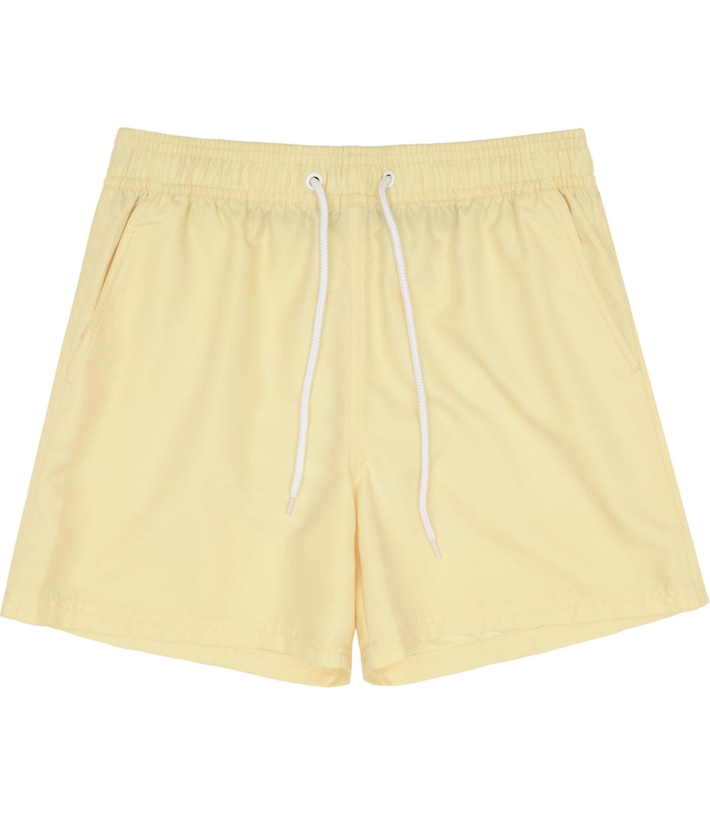 REISS Men's Thompson Yellow Plain Drawstring Swim Shorts NEW