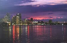 New Orleans Sunset Mississippi River by Britt Johnson Signed and Numbered Canvas