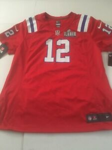 Details about Authentic Nike Red Alt. Tom Brady Patriots Women's XL On Field Jersey Tampa Bay