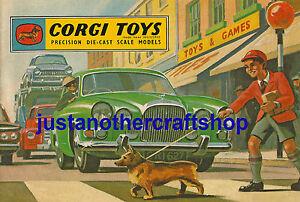 Corgi-Toys-1963-cubierta-del-catalogo-de-cartel-grande-A3-tamano-anuncio-Cartel-Folleto