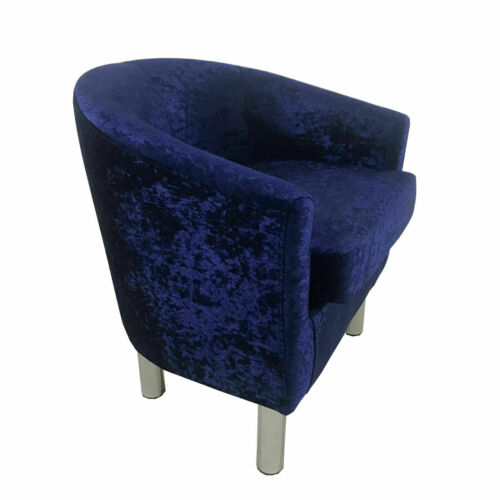 New Velvet Fabric Tub Chair Occasional Chairs Fireside Armchair Lounge Sofa Seat