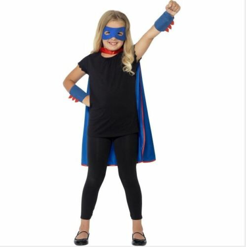 New Smiffys Boys or Girls Super Hero Set Fancy Dress Costume Kit