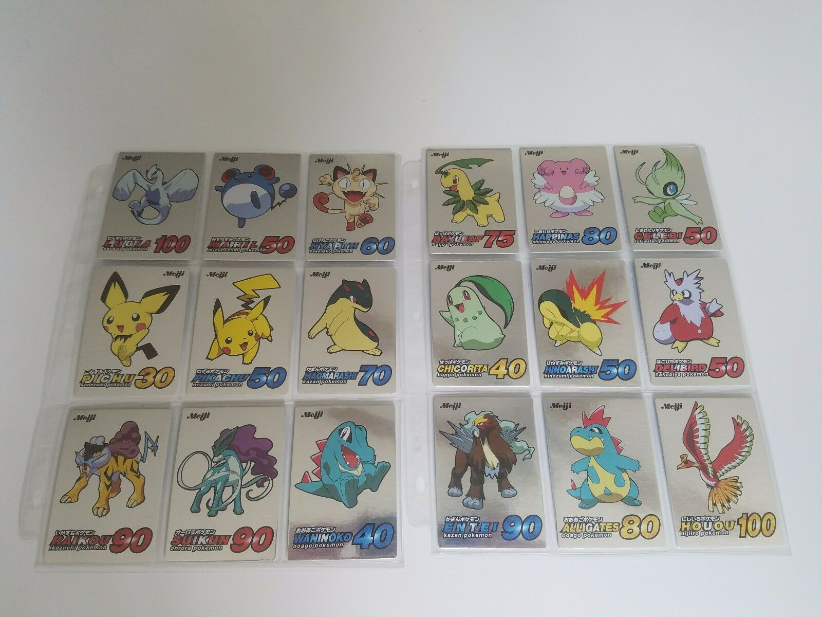 Pokemon Meiji Promo Cards 5 5 5 Complete Sets in Near Mint Mint Condition 90 Cards e95f1e