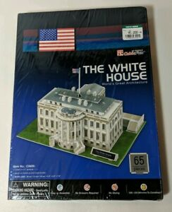 Details About Cubic Fun 3d Puzzle C060h The White Houseworld Great Building Jigsaws In 65 Pcs