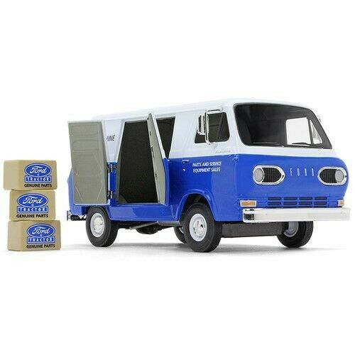 First Gear 40-0394 Ford Econoline Van Ford Tractor Parts bluee Die-cast 1 25 MIB