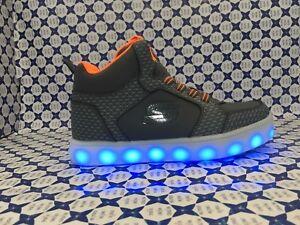 Zapatos Lights 90604 Luces Niño Naranja Energy Con Jr Gris Skechers YxwzqUrY