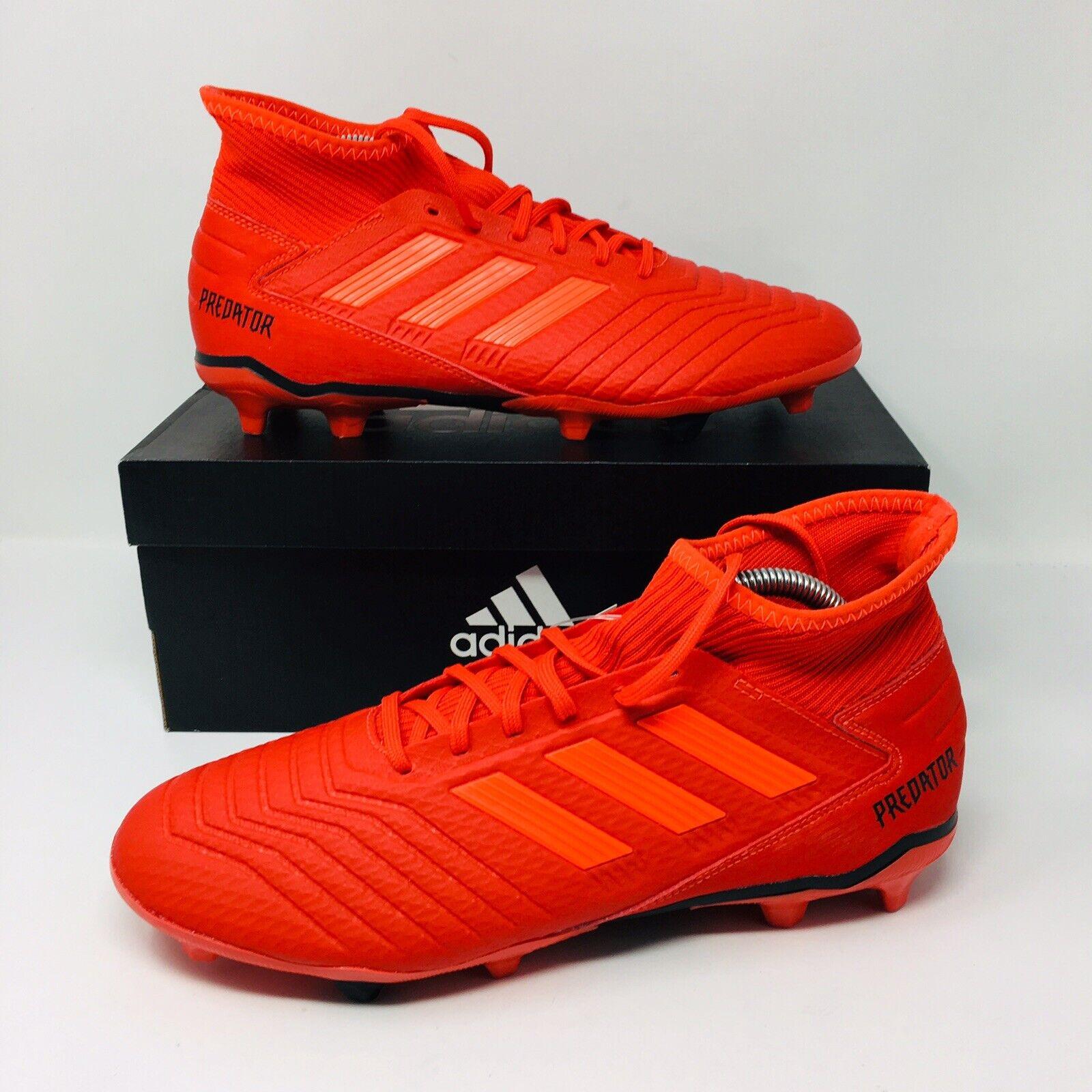 NEW Adidas Predator 19.3 FG (Men Size 10.5) Red Futbol Soccer Cleats Pogba.