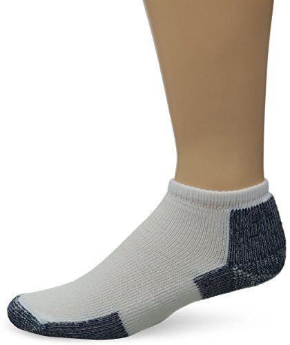 White//Navy Thorlos Unisex Thick Padded Running Socks Micro Mini Large Womens