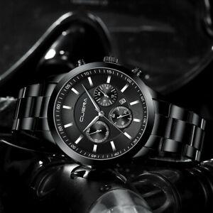 Reloj-de-pulsera-Relojes-De-Lujo-Para-Hombre-de-Cuarzo-Acero-Inoxidable-Analogo-Nuevo-deportivo-de