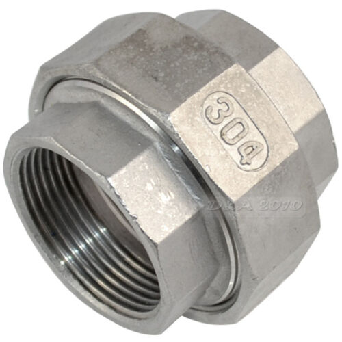 """1//2/"""" Tubo Montaje Maleable Recto Unión coulping ss 304 F//F Npt Inter"""