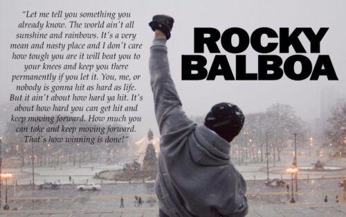 New Rocky Balboa Quote Motivation 14x21 27x40in Art Silk poster B-301