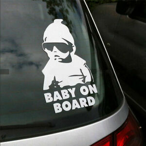 Cool-Baby-on-Board-Vinyl-Car-funny-Sticker-Decal-for-window-and-safety-sign-NEW
