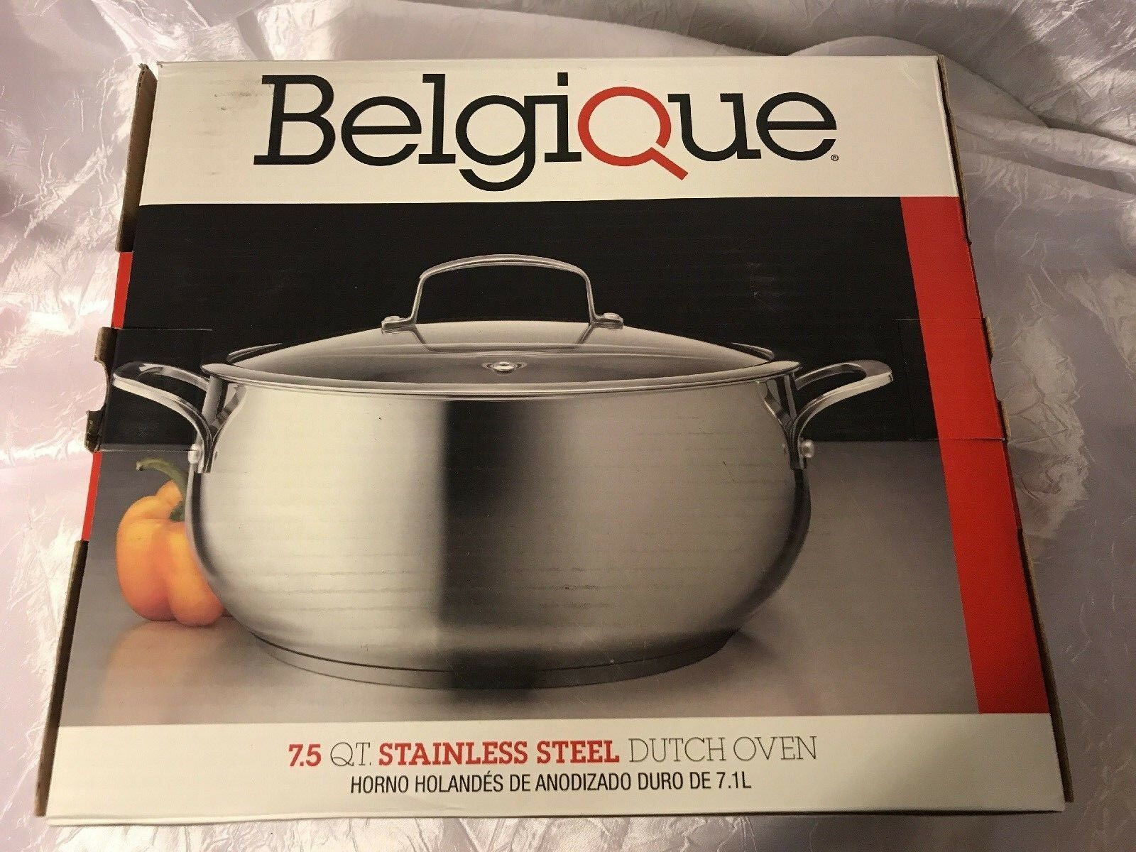 Belgique 7.5 QT Stainless Steel Dutch Oven