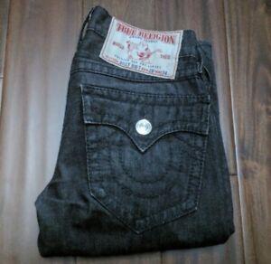 True Religion Big Billy T Jeans Black Men's 28 Waist 34 Inseam
