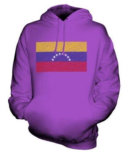 Venezuela Scribble Flag Unisex Kapuzenpulli Top Geschenk Venezolanisch Fußball