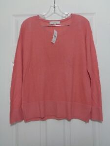 Ann-Taylor-Loft-Women-039-s-Pink-Long-Sleeve-Knit-Top-Size-Medium-NWT