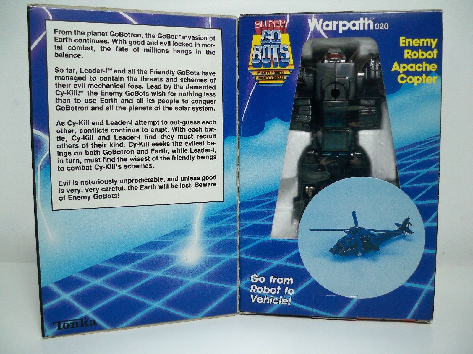 K1701831 WARPATH W/ BOX & UNUSED DECALS SUPER GOBOTS GOBOTS GOBOTS 100% COMPLETE 1984 ORIGINAL b35beb
