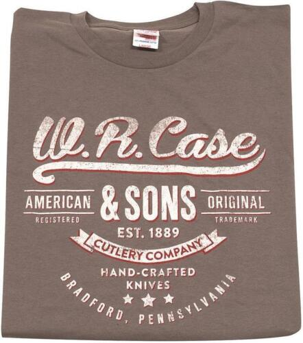 W R Case Cutlery /& Sons Hand Crafted Knives Graphic Large Charcoal T-Shirt 52482