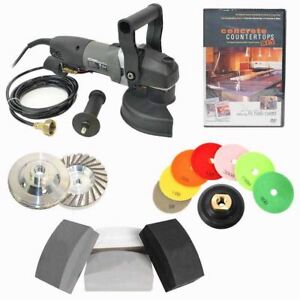 Details About 5 Inch Electric Hand Wet Concrete Countertop Polisher Grinder