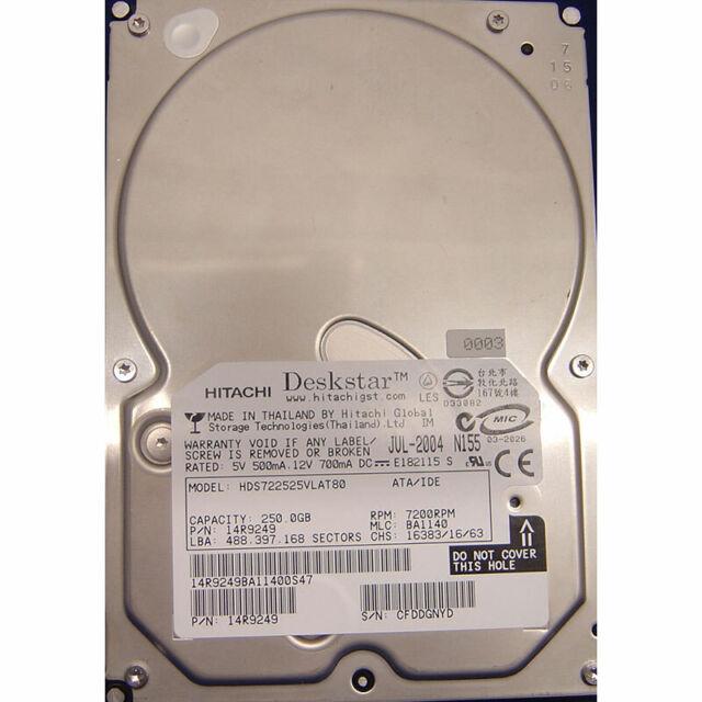 Hitachi 250GB,7200RPM,IDE - 14R9249