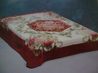 Korean Mink Blanket - Queen - Flower Design - Premium Quality