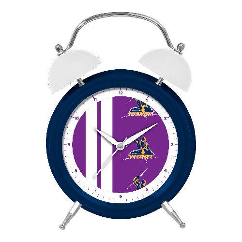 NRL Melbourne Storm Money Bank Money Box Alarm Clock with Light Up Feature