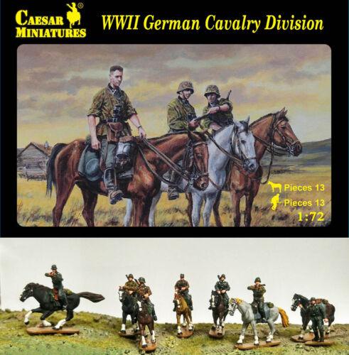 13 Figurines Division de Cavalerie Allemande CAESAR Miniatures 1//72 n° 092