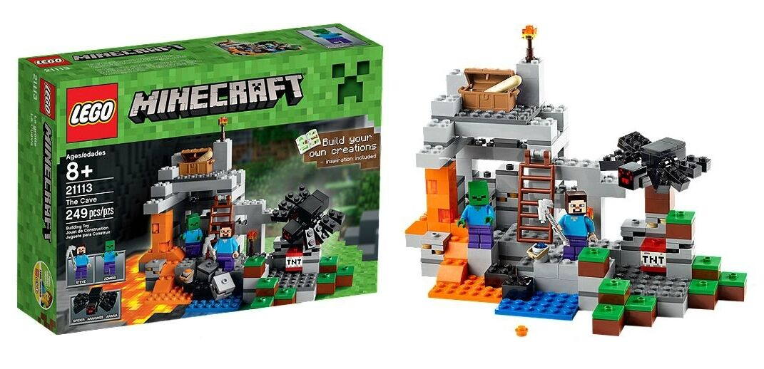LEGO 21113 Minecraft-LA GrojoTA-The Cave-Steve-ZOMBIE-SPIDER - SET-OVP-NEW-NUOVO