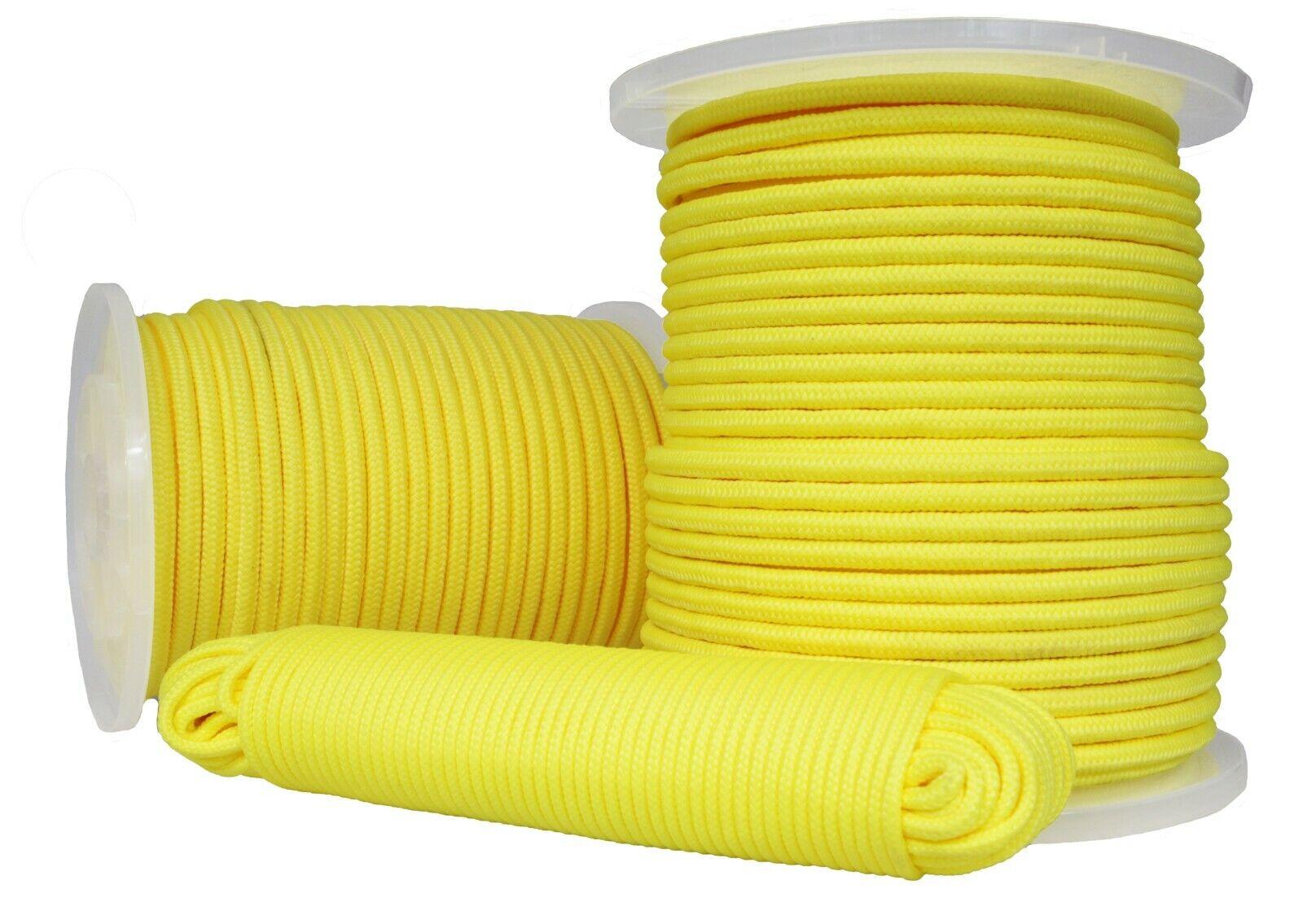 10 Meter am St/ück von Rolle abgespult 10 Flechtleine 5mm wei/ß 8-fach geflochten Seil Polyester