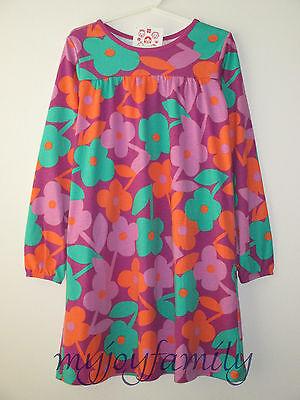 HANNA ANDERSSON Playdress Daydress Dress Berry Mix Flowers 140 10 NWT