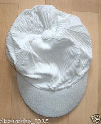 AnpassungsfäHig Kappe Baseballcaps - Für Mädchen Sommer Cappy Mütze Cord Stoff In Weiß *top*