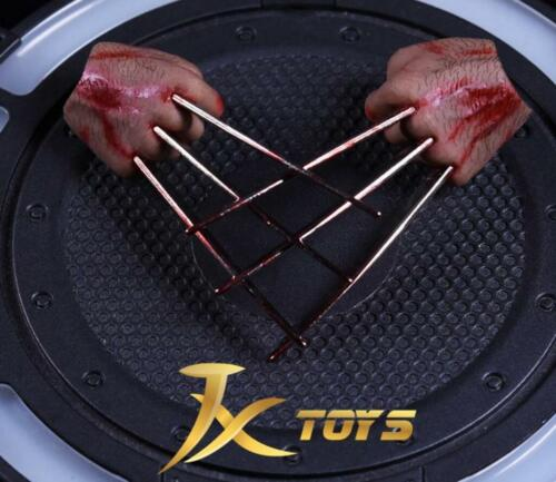 ❶IN STOCK❶1//6 Wolverine Logan metal bloody claw hands realistic hair worldbox