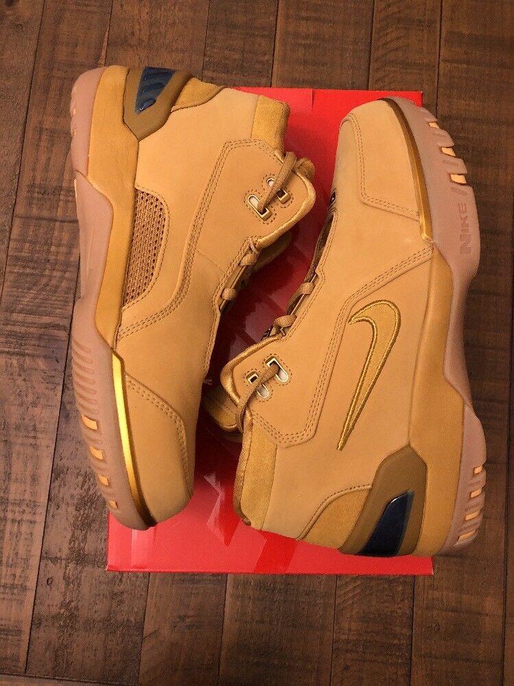 Nike Air Zoom Generation ASG QS Wheat 2018 LeBron James Men's Size 7 AQ0110-700