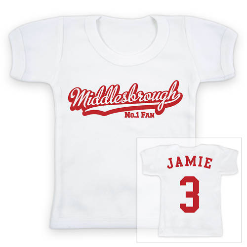 Middlesbrough Fußball personalisiert Baby/Kind T-Shirt