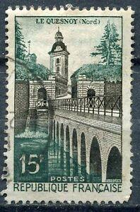 FRANCE-TIMBRE-OBL-N-1106-LE-QUESNOY-REMPART-LAC-VAUBAN-ET-PORTE-DE-FAUROEULX