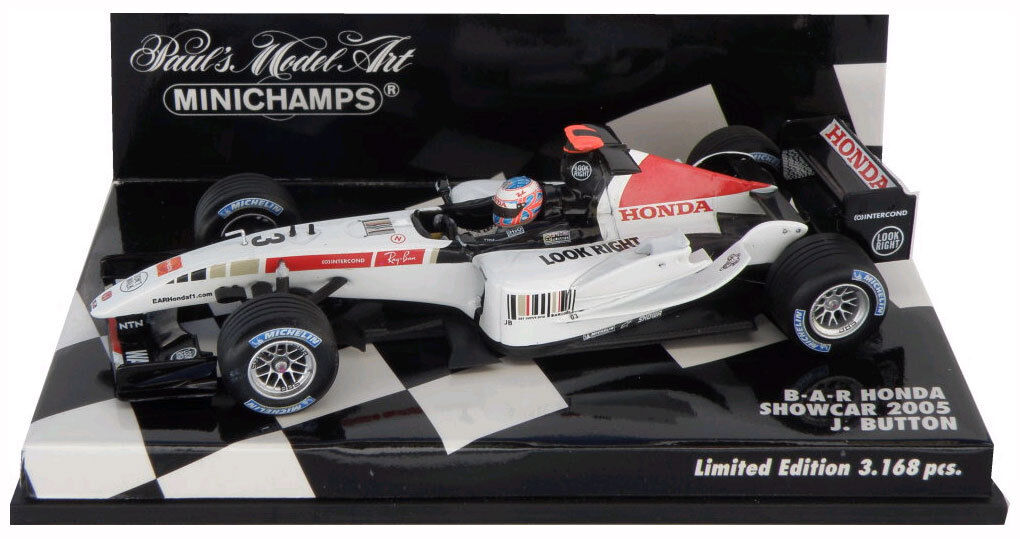 Minichamps Bar Honda Showcar 2005-Jenson Button 1 43 Escala