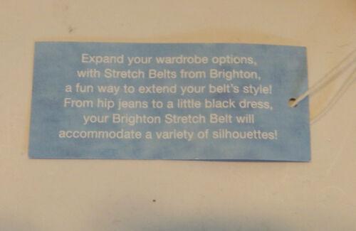 Brighton CHER Brown Patent Leather Stretch Belt  Sizes 32 34  NWT  B60195