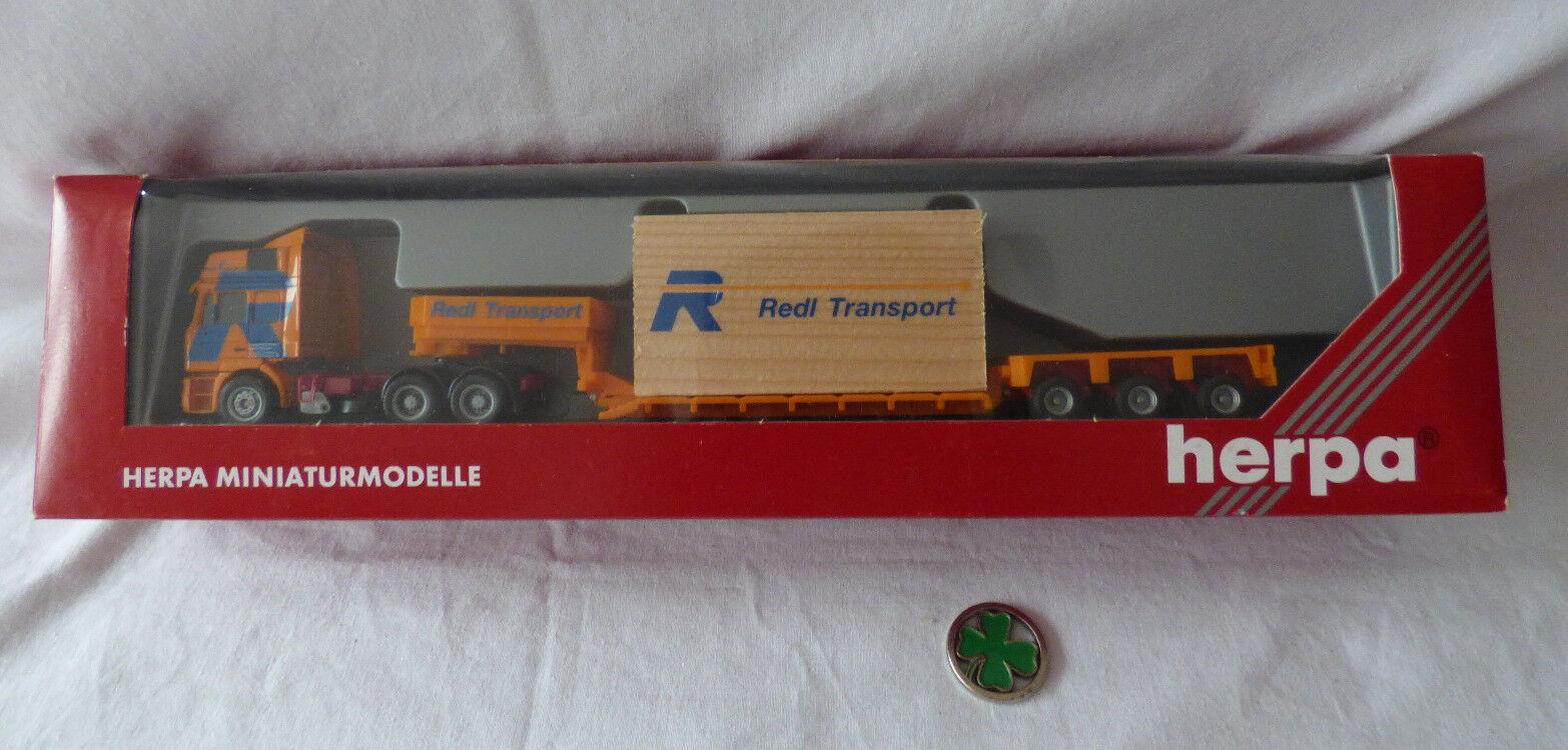 Herpa h0 1 87 - 147040 on F 2000 TIEFLADE semi-remorque rougeL transport neuf dans sa boîte