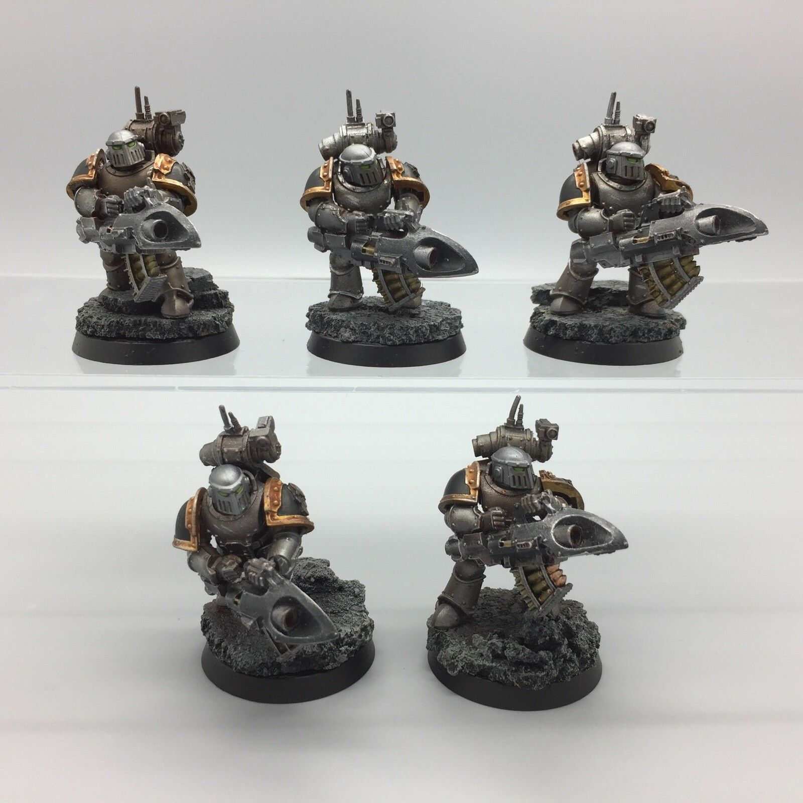 Chaos Space Marines Iron Warriors lanceurs de missiles Squad Forge World painted