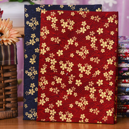 Curtains Fabric Book case DIY Japanese Floral 100/% Cotton For Clothing