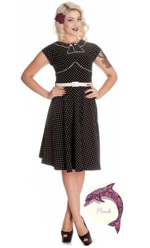 Hell Bunny Noreen Polka Dot 1950s Summer Dress Retro WW2 Fashion 4300
