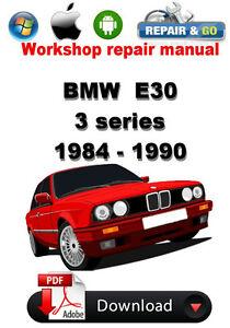 bmw e30 1984 1990 workshop repair manual ebay rh ebay ca