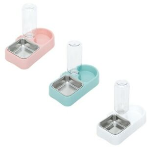 Automatic Pet Food Feeder Drinking Water Fountains for Cats Dogs Pet Water N2X3