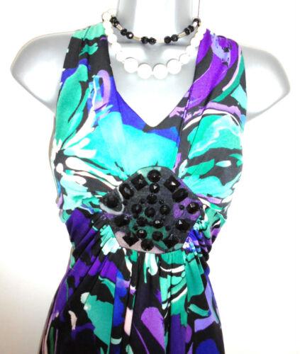 ornée Superbe jolies de robe Kaliko imprimées occasion soirée fleurs de wIOqI1B