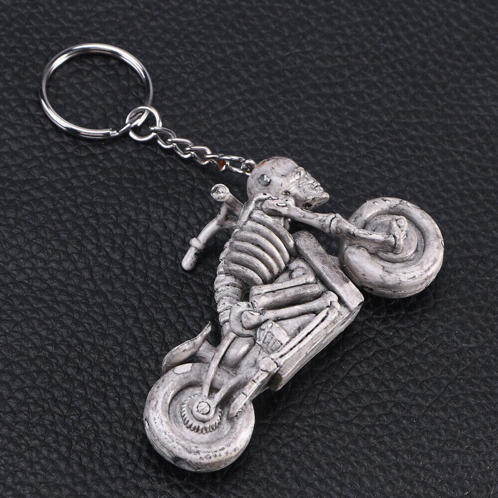 1 stück Motorradschädel Keychain Skeleton Schlüsselanhänger Schlüsselanhänger