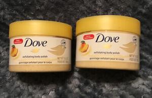 Dove Exfoliating Body Polish Crushed Almond Mango Butter 2 Pack 10 5 Oz Ebay