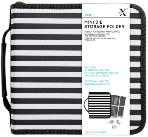 Papermania case with 10 storage wallets Store your Xcut mini dies die cutters