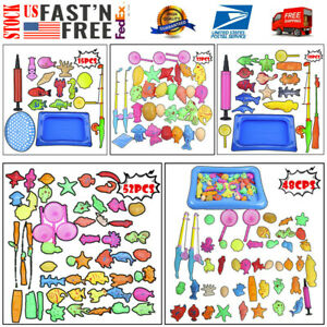 New-Bath-Toys-For-Kids-Fishing-Magnetic-Toys-Floating-Fishing-Game-Suit-US