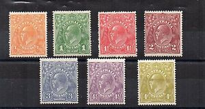 Australia-1926-30-Sideface-values-to-4-1-2d-MH